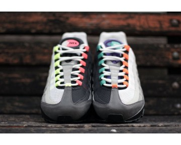 Schuhe Nike Air Max 95 Og Qs 810374-078 Schwarz/Safety Orange/Volt Unisex