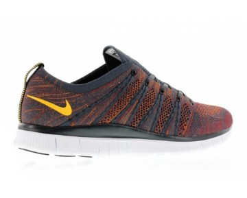 599459-008 Schuhe Herren Anthracite/Laser Orange/Gym Rot/Total Orange Nike Free Flyknit 5.0 Nsw
