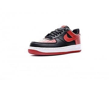 Schwarz Rot Schuhe Nike Air Force 1 Low 820266-009 Unisex