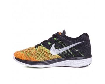 Schwarz/Orange/Gelb Nike Flyknit Lunar3 Schuhe Unisex 698181-003