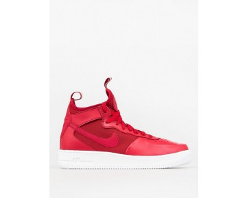 Schuhe Nike Air Force 1 Ultraforce Mid Universität Rot Unisex 864014-600