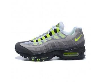 554970-071 Nike Wmns Air Max 95 Essential Grau/Grün/Schwarz Damen Schuhe