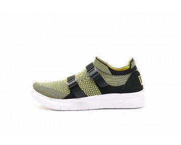 Schuhe Unisex Licht Gelb/Schwarz/Weiß 898022-200  Nike Air Sock Racer Ultra Flyknit