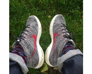Nike Flyknit Chukka Htm Grey Schuhe Wolf Grau Unisex 554969-001
