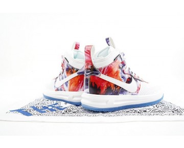 Schuhe Herren 805899-161 Weiß/Blau Nike Lunar Force 1 Duckboot