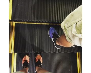 Schuhe Nike  Nike Flyknit Lunar3 698181-005 Herren Blau/Purpel/Schwarz/Weiß