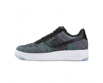 Schwarz,Blau Voltage Grün Schuhe Herren Nike Air Force 1 Ultra Flyknit Low 817419-002