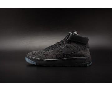 Schuhe Schwarz Grau Unisex Nike Air Force 1 Flyknit