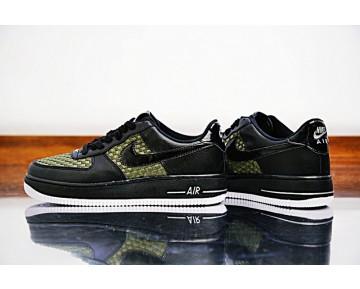 718152-700 Nike Air Force 1 Lv8 'Woven Schwarz Grün Weiß Herren Schuhe