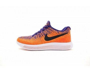 863779-401 Super Orange/Blau/Schwarz Unisex Schuhe  Nike Lunarepic Low Flyknit 2