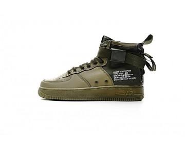 Aa7345-339 Nike Sf Air Force 1 Mid Qs Unisex Army Grün Schuhe
