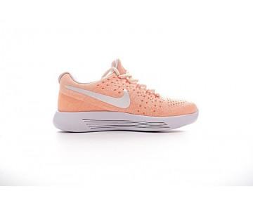 881674-801 Damen  Nike Lunarepic Low Flyknit 2 Schuhe Orange/Weiß