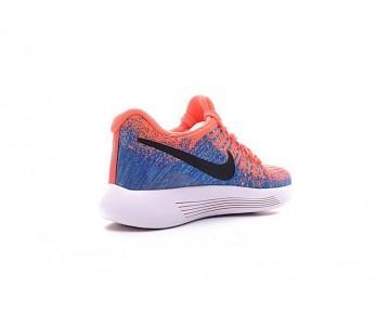 863780-600 Schuhe Sky Blau/Orange Nike Lunarepic Low Flyknit 2 Damen