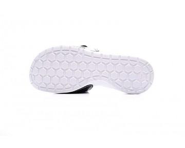 Unisex Schuhe 705513-010 Weiß/Schwarz Nike Solarsoft Comfort Slide