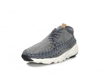 Herren Schuhe 857874-002 Dunkel Grau/Sail-Vachetta Nike Air Footscape Woven Chukka Se