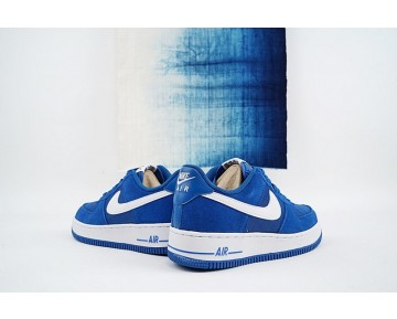 820266-402 Schuhe  Nike Air Force 1 Low Star Blau/Weiß Herren