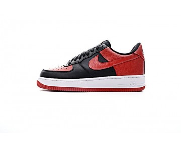 Schwarz Rot Schuhe Nike Air Force 1 Low 820266-009 Unisex