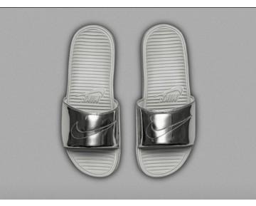 Schuhe Nike Benassi Solarsoft Slide Tal Pack Herren Metallic