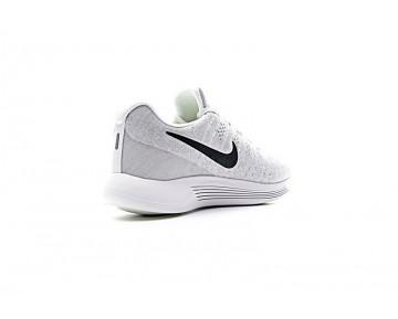 Herren 863779-100 Schuhe  Nike Lunarepic Low Flyknit 2 Weiß Grau/Schwarz