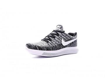 Nike Lunarepic Low Flyknit 2 Herren Weiß/Grau/Schwarz 880283-010 Schuhe