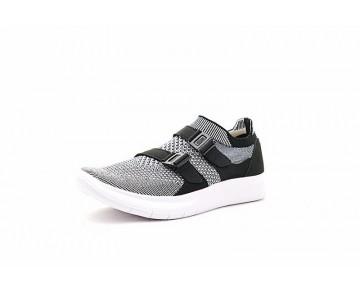 Schuhe Unisex Licht Grau/Schwarz/Weiß  Nike Air Sock Racer Ultra Flyknit 898022-100