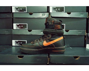 Schuhe Edc A$Ap Vlone X Nike Special Field Air Force 1 816771-991 Unisex Schwarz Orange