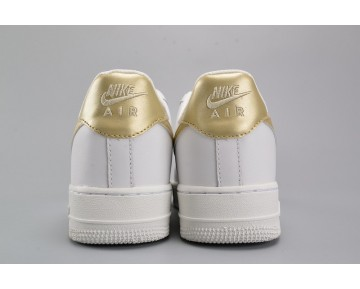 Schuhe Nike Air Force 1 Low 314219-127 Weiß Metallic Gold Unisex