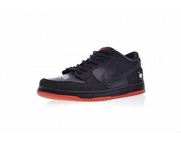 Schwarz/Rot Schuhe Staple X Nike Sb Dunk Low Pigeon Unisex 883232-008
