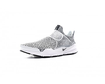 Schuhe Unisex 942198-100 Weiß/Schwarz Nike Sock Dart Qs Safari Pack