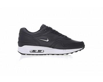 Schwarz Silber Nike Air Max 1 Jewel Premium 918354-001 Schuhe Unisex