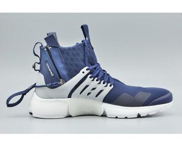 Schuhe [emailprotected] X Nike Air Presto Mid Herren 844672-400 Tief Lila/Weiß