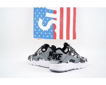 Nike Air Huarache Run Ultra Print Schuhe Grau Schwarz 844880-001 Damen