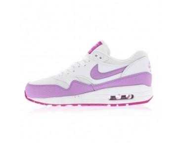 Nike Air Max 1 Wmns Essential 599820-116 Schuhe Damen Weiß,Fuchsia Glow