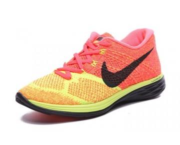Nike Flyknit Lunar 3 Orange Gelb/Schwarz Damen Schuhe