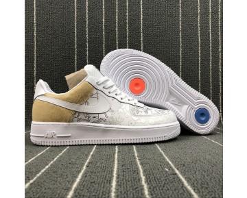 A09281-100 Nike Air Force 1 Low Premium 100 Schuhe Unisex Braun Weiß