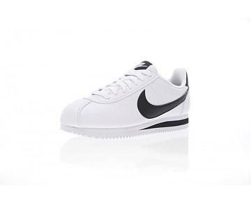 Unisex 807471-101 Weiß/Schwarz Schuhe Nike Classic Cortez Leather