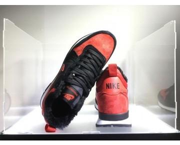 682844-606 Unisex Schuhe Nike Internationalist Mid Schwarz/Varsity Rot