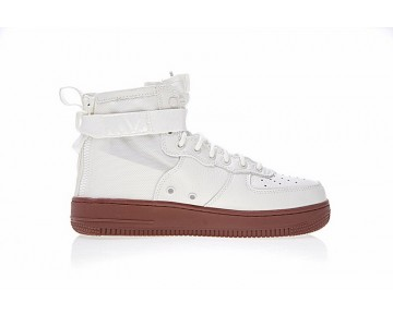 Nike Sf Air Force 1 Mid Weiß Brick Rot Schuhe Herren 917753-100