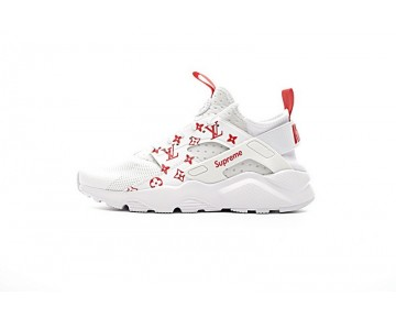 Unisex 819685-106 Schuhe Weiß/Rot Nike Air Huarache Ultra Id X Supreme