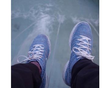 Nike Lunar Flyknit Chukka Htm Herren Schuhe 599347-410 Licht Blau/Grau