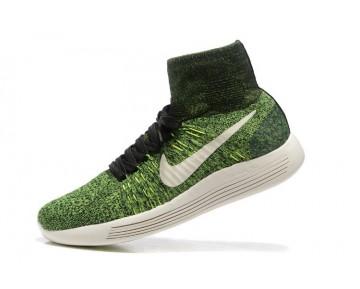 Nike Lunarepic Flyknit Schuhe Schwarz/Volt/Poison Grün 818676-002 Herren