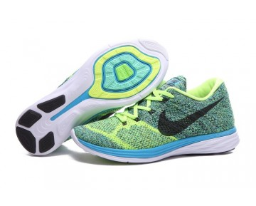 40-45 Nike Flyknit Lunar 3 Lime Grün/Sky Blau/Schwarz Herren Schuhe