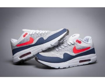Grau Weiß Tief Blau 843384-101  Nike Air Max 1 Ultra Flyknit Schuhe Herren