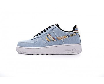 Schuhe Indian Tannin Totem Ligh Blau Denim 823511-407 Nike Air Force 1 Unisex