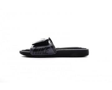 Unisex Schuhe 705513-090 Nike Solarsoft Comfort Slide Schwarz Grau