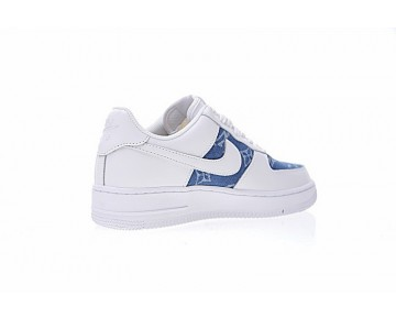 L.Vx Supreme X Nike Air Force 1 923089-600 Schuhe Denim Blau Weiß Unisex