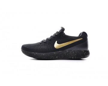863779-090 Schuhe Schwarz/Ink Gold Herren  Nike Lunarepic Low Flyknit 2