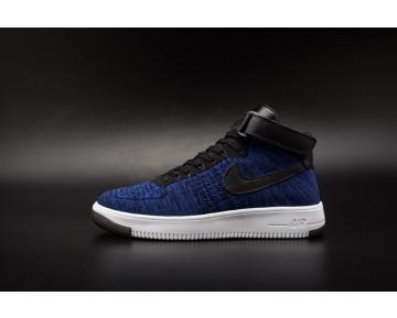 Herren Tief Blau Schuhe Nike Air Force 1 Flyknitp