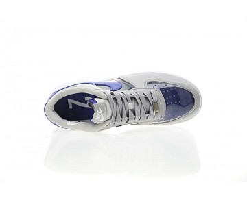 687843-002 Schuhe Grau Blau Herren Nike Air Force 1 Low Cmft Signature