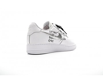 Weiß Schwarz Schuhe Off-White X Nike Air Force 1 Low Herren 923005-100